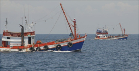fishing vessel with VMS