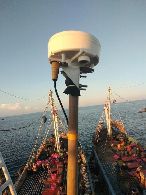 Triton VMS Installed on a Fishing Vessel in Myanmar