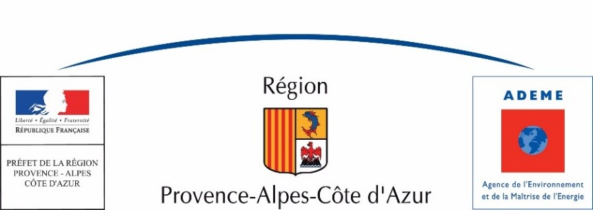 French PACA region and ADEME logos